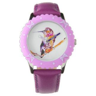Mein Zweig-Kolibri-Druck Armbanduhr