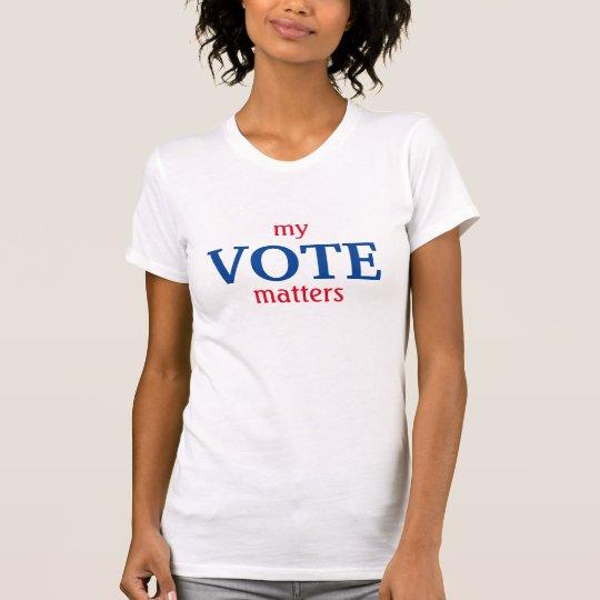 """""""Meine Abstimmung ist"""" T - Shirt von Bedeutung"""