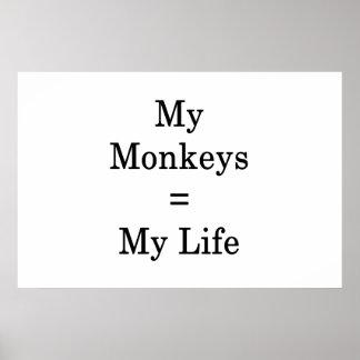 Meine Affe-Gleichgestellten mein Leben Poster