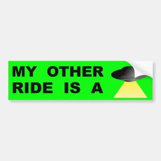 Meine andere Fahrt ist ein UFO Autoaufkleber
