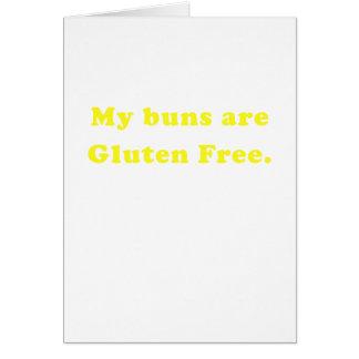 Meine Brötchen sind das freie Gluten Grußkarte