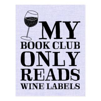 Meine Buchgemeinschaft liest nur Postkarte