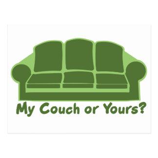 Meine Couch oder Ihre? Postkarte