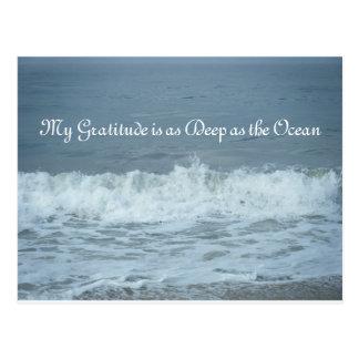 Meine Dankbarkeit ist so tief wie der Ozean! Danke Postkarte