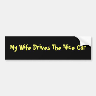Meine Ehefrau fährt das Nizza Auto Autoaufkleber