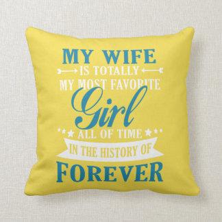 Meine Ehefrau für immer Kissen