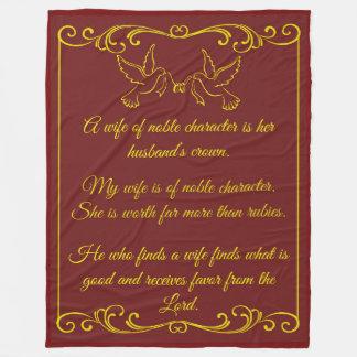 Meine Ehefrau-Hochzeits-Decke Fleecedecke
