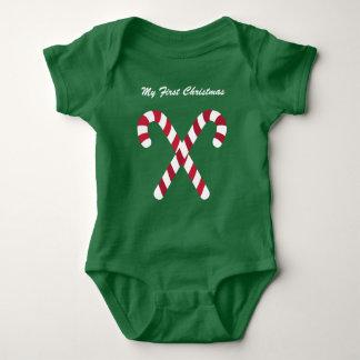 Meine erstes Weihnachtsgrüne Baby Strampler