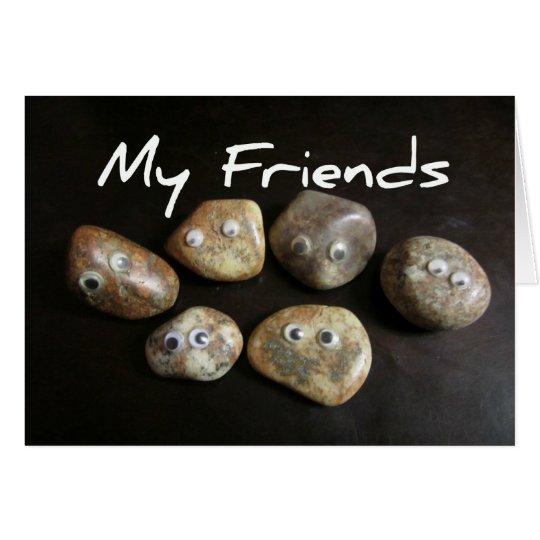 Meine Freunde sind Felsen Grußkarte