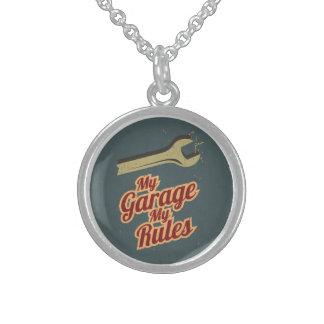 Meine Garage meine Regeln Sterling Silberkette