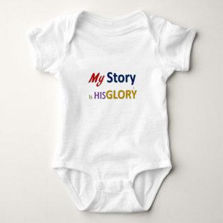 Meine Geschichte ist SEIN Ruhm (TM) Baby Strampler