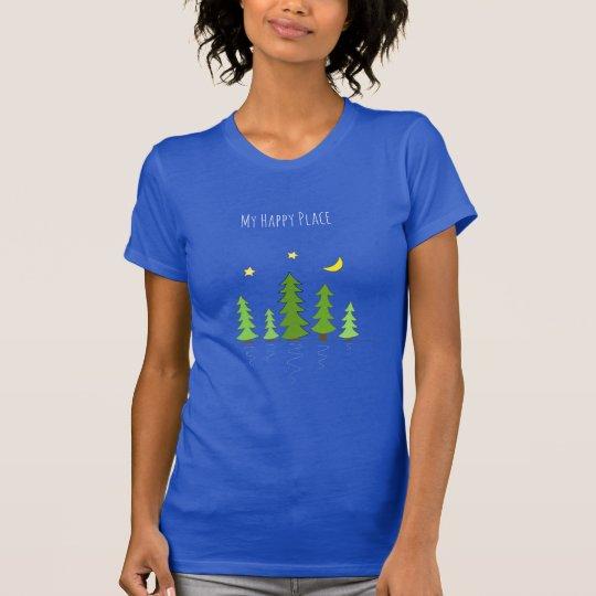 Meine glücklichen Platz-Bäume des Waldes, die T-Shirt