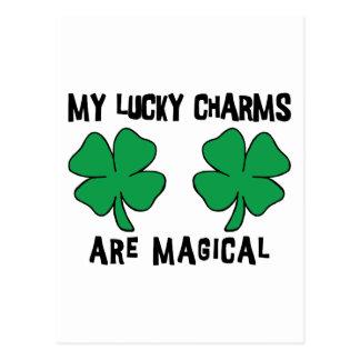 MEINE Glücksbringer sind magisch Postkarte