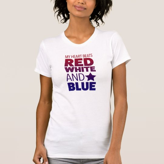 Meine Herz-Schläge Rot, Weiß und Blau T-Shirt
