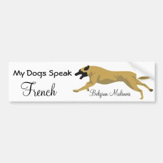 Meine Hunde sprechen französisch Autoaufkleber