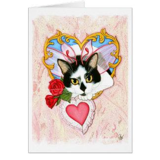 Meine katzenartiger Valentinsgruß-feenhafte Karte