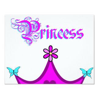 Meine kleine Prinzessin Invitation Card Individuelle Einladungskarten