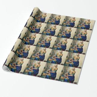 Meine Kopie Vermeers der Küchen-Mädchen-Malerei Geschenkpapier
