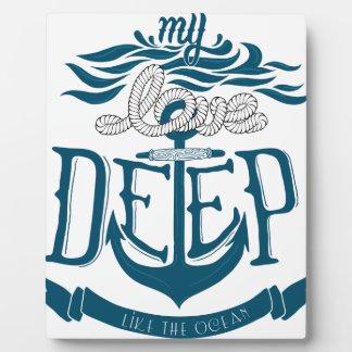 Meine Liebe ist wie der Ozean tief Fotoplatte