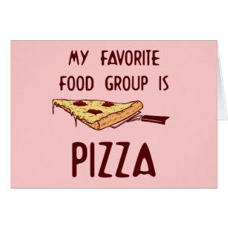 Meine LieblingsLebensmittelgruppe ist Pizza Karte