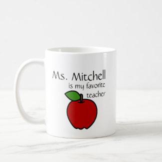 Meine Lieblingslehrer-Tasse - fertigen Sie Kaffeetasse