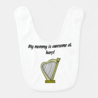 Meine Mama ist an der Harfe fantastisch Babylätzchen