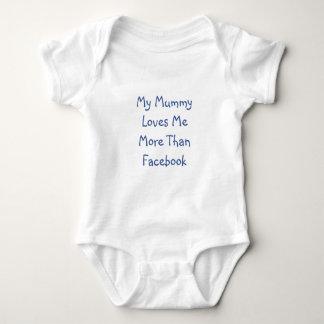 Meine Mama-Lieben ich mehr als Facebook Baby-Weste Baby Strampler