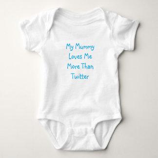 Meine Mama-Lieben ich mehr als Twitter-Baby-Weste Baby Strampler