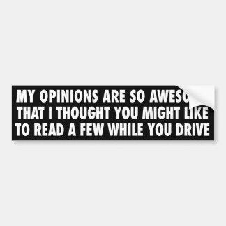 Meine Meinungen sind so fantastischer Autoaufkleber