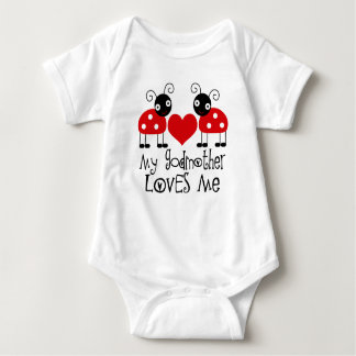 Meine Patin-Lieben ich Marienkäfermädchen-T - Baby Strampler