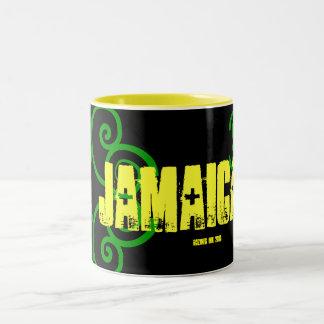 """""""Meine Reise nach JAMAIKA 2010"""" jamaikanische Zweifarbige Tasse"""