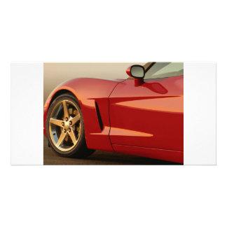 Meine rote Korvette Fotokartenvorlage