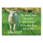 Meine Schafe hören meine Stimme, Bibel-John-10:27, Karte