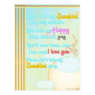 Meine Sonnenschein-Vertikale Postkarte