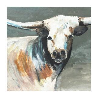 Meine Stier-Malerei von Jac auf ausgedehnter Leinwanddruck