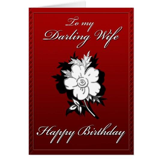 Meine süße Ehefrau-Geburtstagskarte Karte
