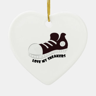 Meine Turnschuhe Keramik Herz-Ornament