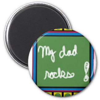 Meine Vati-Felsen Runder Magnet 5,7 Cm