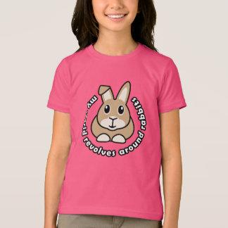 Meine Welt rotiert um Kaninchen-Kinder T-Shirt