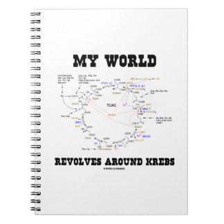 Meine Welt rotiert um Krebs (Energie-Zyklus) Notizbücher