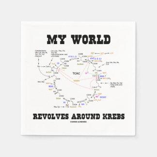 Meine Welt rotiert um Krebs (Energie-Zyklus) Papierservietten