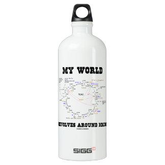 Meine Welt rotiert um Krebs (Energie-Zyklus) Wasserflaschen