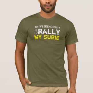 meine Wochenendenaufgaben-Kundgebung mein subie T-Shirt