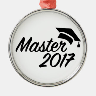 Meister 2017 silbernes ornament