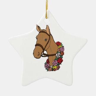 Meister-Pferd Keramik Stern-Ornament