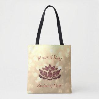 Meister von Reiki Lotus Entwurf Tasche