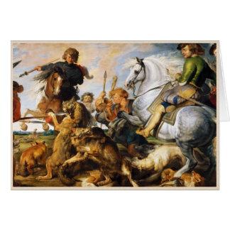 Meisterwerk Wolf- und Fox-Jagd Peter Paul Rubens Karte
