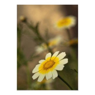 Melancolic flower carton d'invitation  12,7 cm x 17,78 cm