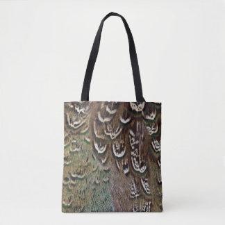 Melanistic Fasan-Feder-Detail Tasche