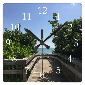 Melbourne-Strand-Uhr Quadratische Wanduhr